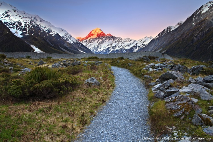 Mt. Cook on FIRE- New Zealand